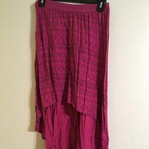 Magenta High-low Skirt